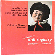 Book Theriaults Doll Registry Price Guide Edited by Florence Theriault