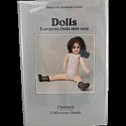 Book Dolls European Dolls 1800 to 1930 by Jurgen and Marianne Cieslik