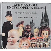 Book German Doll Encyclopedia 1800 to 1939 by Jurgen and Marianne Cieslik Marks Dates Facts