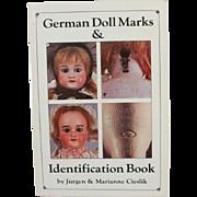 Book German Doll Marks Identification Book by Jurgen and Marianne Cieslik
