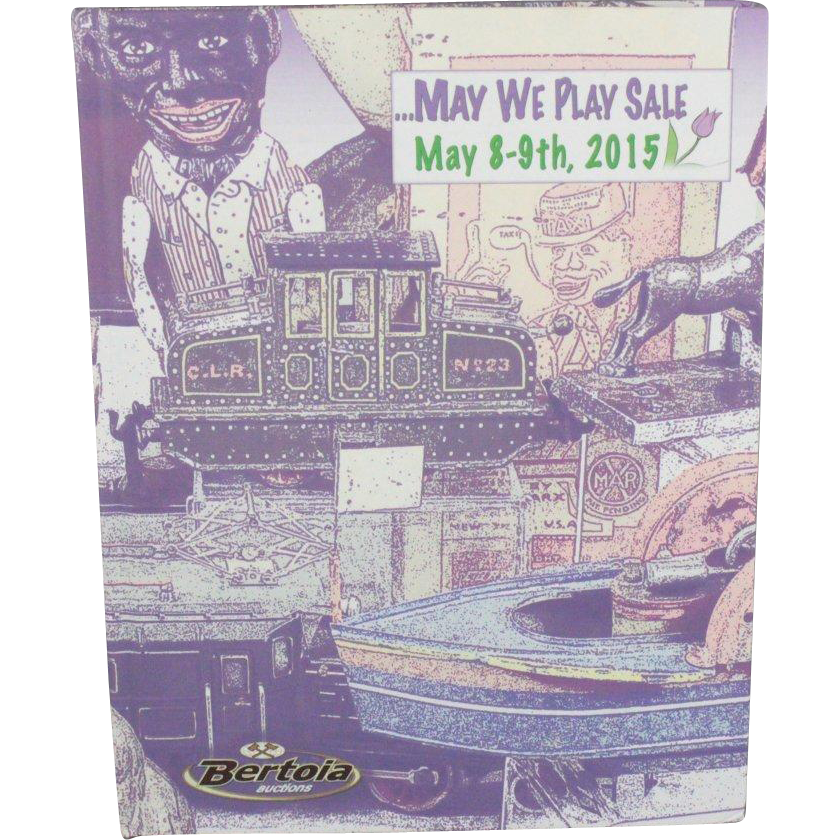 Book May We Play Sale Auction Catalog Doll House Miniatures Toys Trains Cast Iron