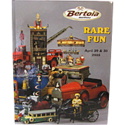 Book Rare Fun Bertoia Auctions Toys Cast Iron Schoenhut Disney