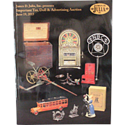 Doll Auction Catalog Toy, Doll and Advertising James D Julia