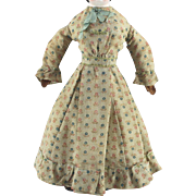 Early Wool Doll Dress Beautifully Made