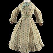 Early Wool Doll Dress Beautifully Made