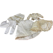 Vintage Doll Costume in 1880 Style Six Pieces Small Size