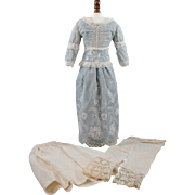 Vintage Doll Dress and Undergarments from Antique Fabrics