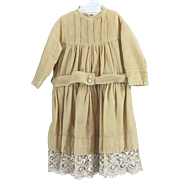 Finest Wool Completely Hand Stitched Child or Large Doll Dress