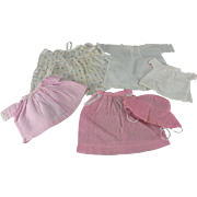Doll Clothes Six Pieces c1930 Baby or Toddler