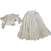 Vintage Doll Clothing for 11 Inch Doll Nine Pieces Complete Costume