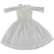 Antique Doll Dress Insertion Lace Ruffled Collar Lovely Styling
