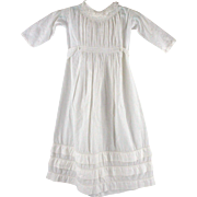 Antique Christening Gown for Larger Doll or Baby Beautiful Piping and Smocking