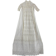 Christening Dress Lavish Laces and Embroidery Pin Tucks Breathtaking Example
