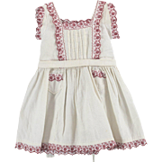Pinafore for Child or Large Doll c1910