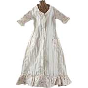 Early Cotton Doll Dress for Fashion Type Parian China or Similar Lady Doll