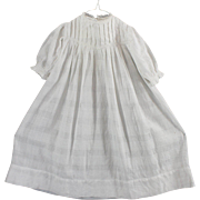 Antique Windowpane Dress for Child or Larger Doll Beautifully Made