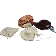Four Antique and Vintage Doll Hats