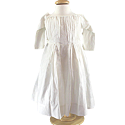 Antique French Embroidered Dress for Child or Larger Doll Beautifully Made