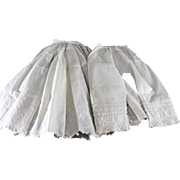 Antique Doll Undergarments Set Larger Size