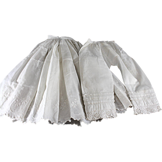 Antique Doll Undergarments Set Larger Size