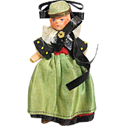 All Bisque Doll House Doll Germany Original Costume Offer Half Off Sale Price