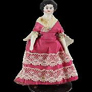 Antique Doll China Head Miniature Dollhouse