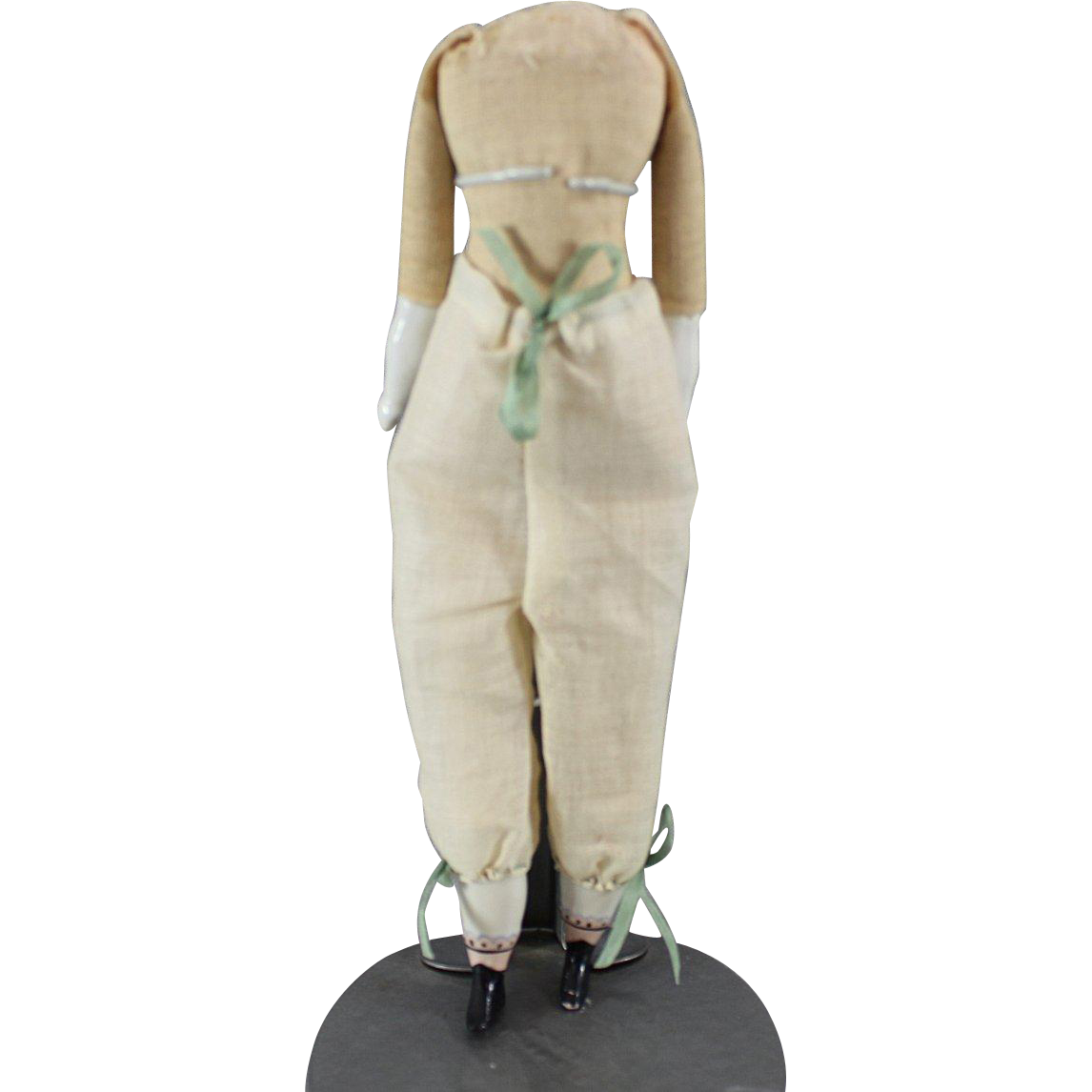 Antique Doll Body China Limbs 9.5 Inches with Pantaloons