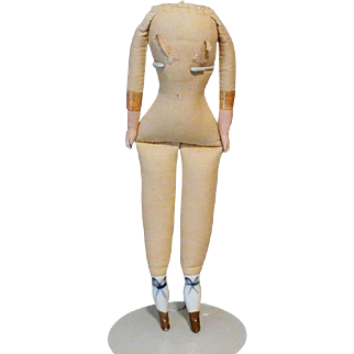 Antique German Doll Body China Legs 13 Inches