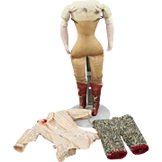 Original Factory Doll Body and Clothing Red Boots 11.25 Inches