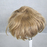 """Antique Mohair Doll Wig Light Brown Wefted 12"""" Head for Baby or Toddler"""