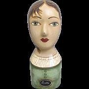 Vintage Plaster Mannequin Head Display Hats Wigs