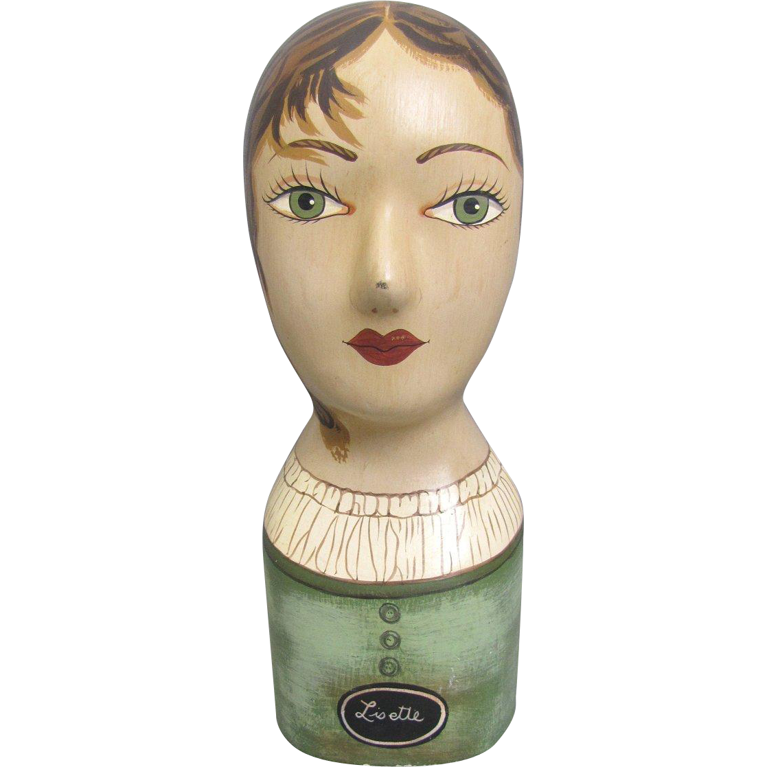 Vintage Plaster Mannequin Head Display Hats Wigs