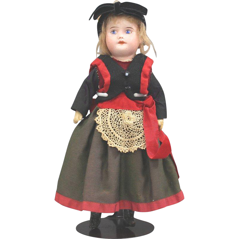 SFBJ Doll All Original Normandy Costume Painted Eyes