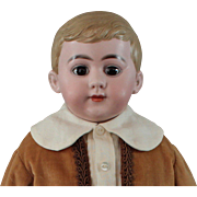 American School Boy Doll 19 Inches Gorgeous Head c1880