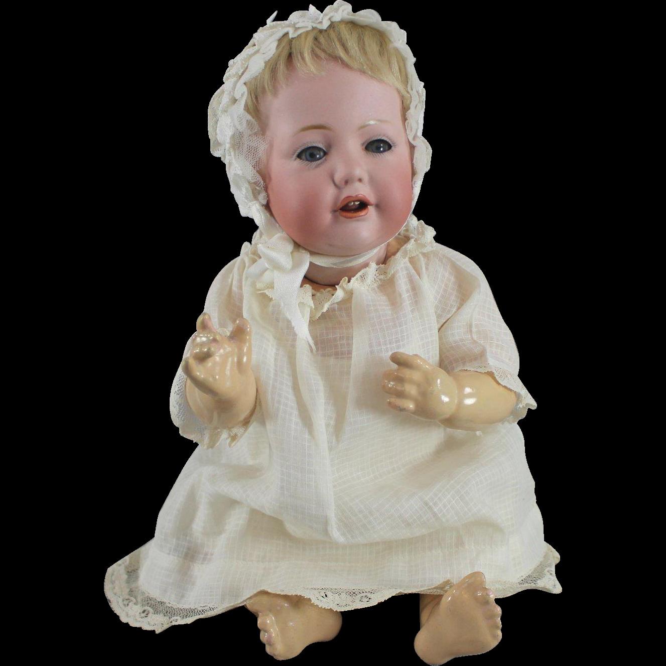 Hilda by Kestner Baby Doll Original Wig Plaster Pate Factory Costume