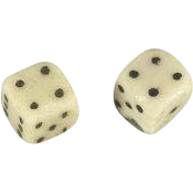 Miniature Dice Antique Only One Quarter Inch Square