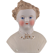 German Parian Dresden Gent Kling Doll Head
