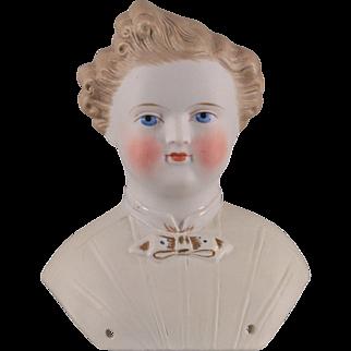 German Parian Dresden Gent Kling Doll Head