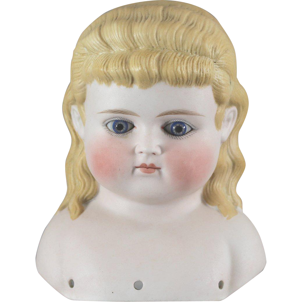 Alice in Wonderland German Bisque Glass Eyes Long Hair Gorgeous