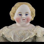Parian Type German Bisque Simon & Halbig Doll Beautifully Dressed