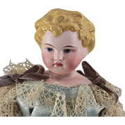 Parian Type German Bisque Doll Child 12 Inches Tall