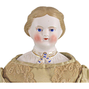 Parian Type Portrait Doll Cabinet Size Lady