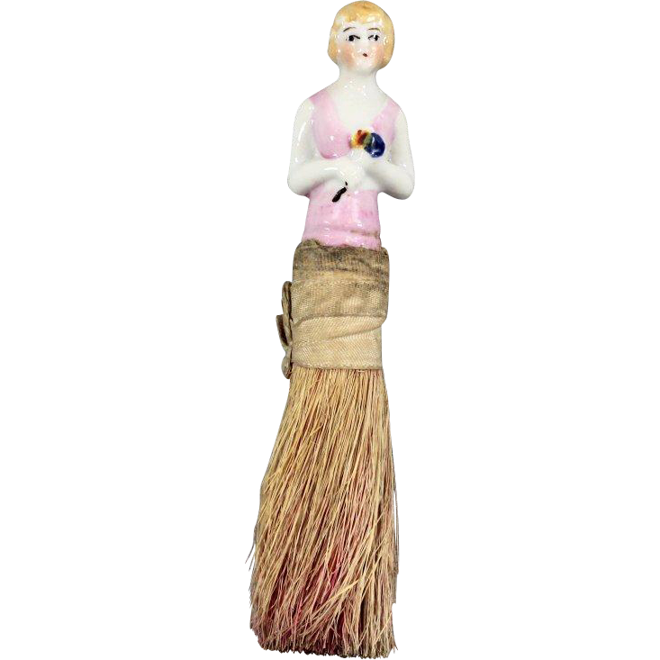 Half Doll Clothes Brush Novelty Item Japan