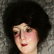 Wonderful Early Art Deco Wax Half Doll, Beata, Germany