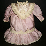 Pretty Pink Small Vintage Doll Dress, Kestner, Handwerck