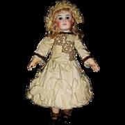Lovely Silk Taffeta French Bebe Doll Dress and Bonnet