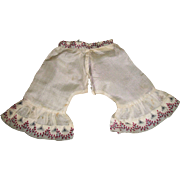 Lovely Pair of Antique Silk Pantalettes - Red Tag Sale Item