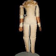 Small Antique Cloth Doll Body, TLC