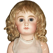 Lovely Blonde Antique Mohair Doll Wig, TLC
