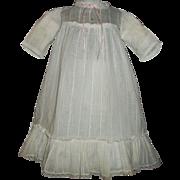 Sweet Antique Doll Dress, Large Ruffle